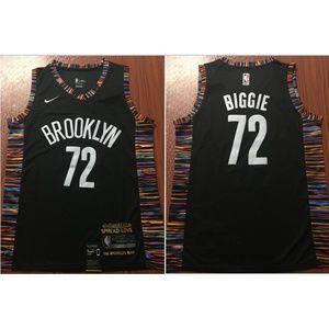 Brooklyn Nets Nike Black Biggie Jersey